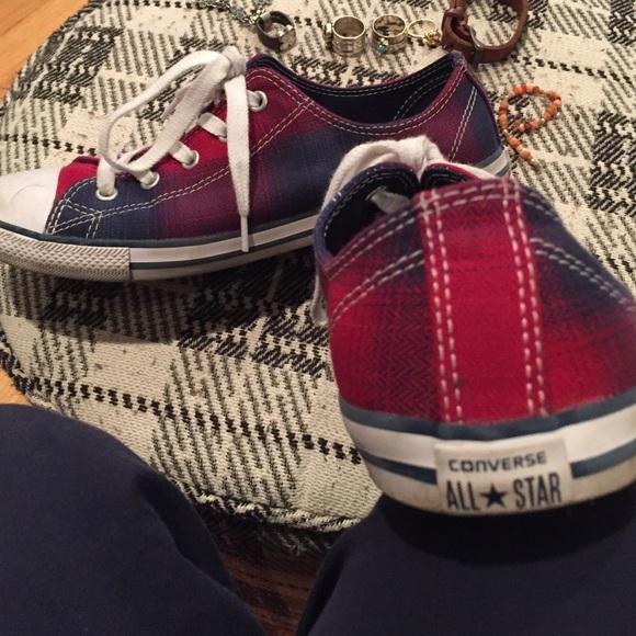 fb234568fa94 Converse Shoes - Plaid Converse All Star Tennis Shoes 8M