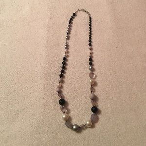 LOFT Long Chunky Bead Necklace