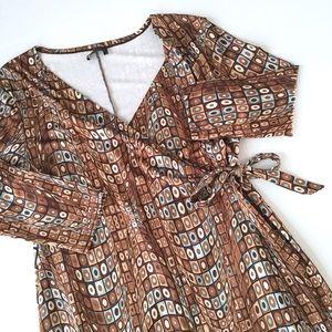 Olian Dresses & Skirts - Maternity Geometric wrap dress H1