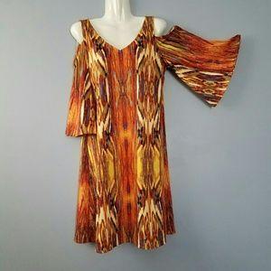 New A Line Vibrant Color Dress