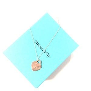 Return To Tiffany heart tag charm and chain