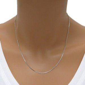 Jewelry - Sterling Silver Diamond Cut Chain 0.20mm
