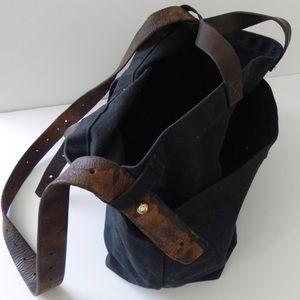 595acd533df3 peg   awl Bags - peg   awl black waxed canvas tote