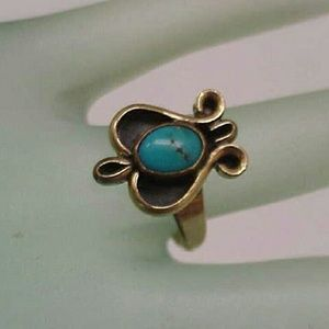 Jewelry - Vintage 14k gold Persian turquoise ring 1880s