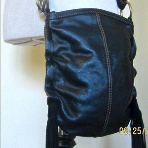Lucky Brand Leather Crossbody EUC