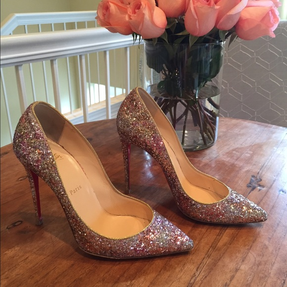 christian louboutin glitter pigalle follies pumps