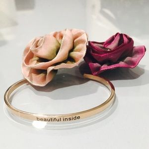 "Jewelry - Mantra Bracelet ""beautiful inside"""