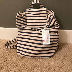 NWT navy striped backpack