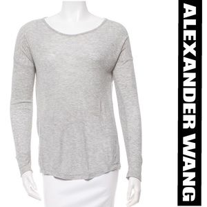 Alexander Wang Grey Long Sleeve Top