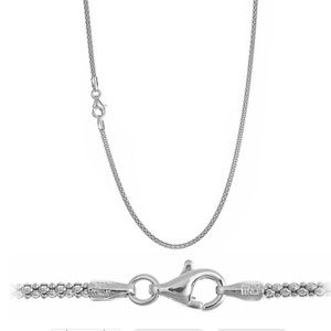 Jewelry - Sterling Silver Popcorn Italy Chain