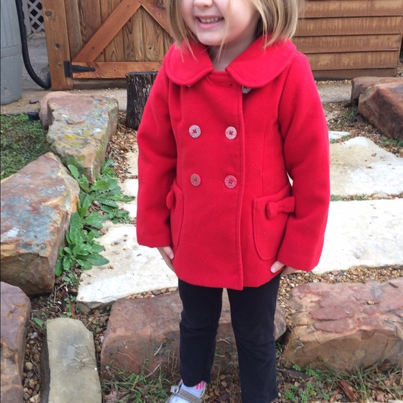 39% off London Fog Other - London Fog Girls Red Pea Coat from ...