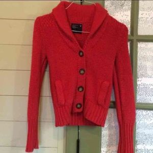 AE Red knitted Cardi