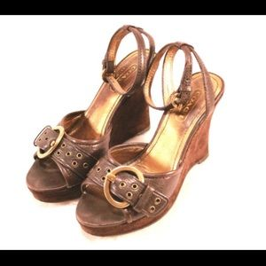 Coach Shoes - COACH Caterina Chocolate Brown Sandals
