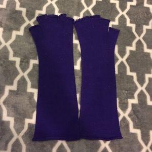 Accessories - Dark Purple Finger Less Gloves