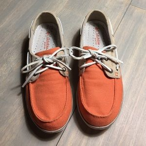 Columbia Other - Columbia Canvas PFG Boat Shoes - Rare color!!