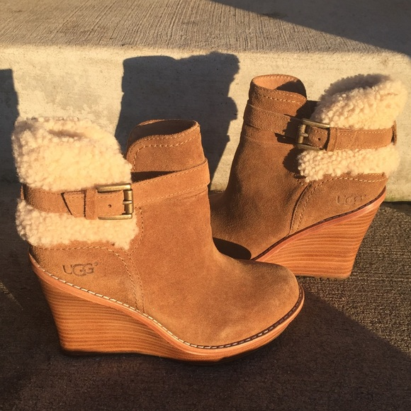 c00be748aead UGG Anais wedge bootie   Never worn   5. M 5869cad4c6c79569cf0da73b