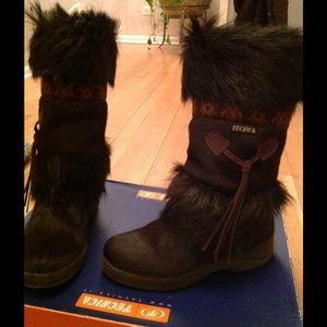 Tecnica Shoes - New Tecnica brown Skandia fur boots size 6