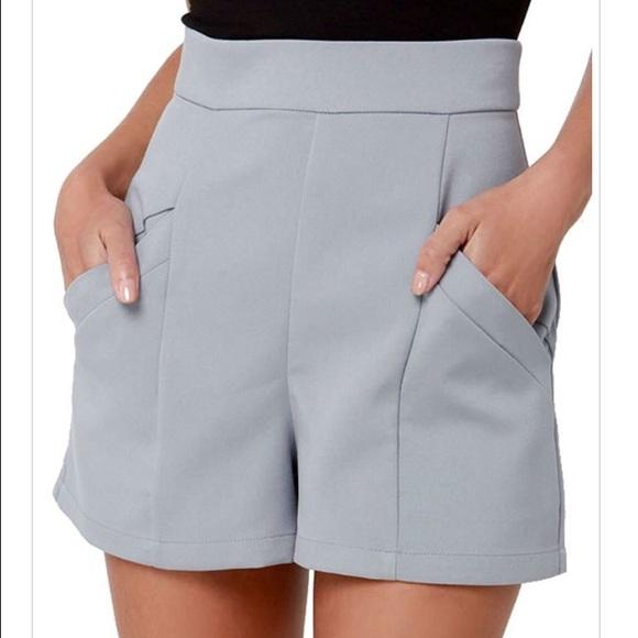 2ce762388e2 BB Dakota Bryan High-Waisted Shorts Dove Grey Sz 6
