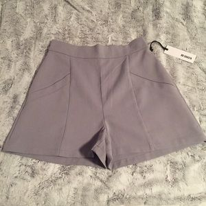 66912a05d9b BB Dakota Shorts - BB Dakota Bryan High-Waisted Shorts Dove Grey Sz 6