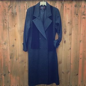 Stephanie Mathews  Jackets & Blazers - ⬇️ Vintage Gray Wool Peacoat Trench Coat