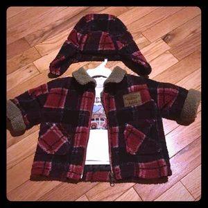 Other - 3/6m Flannel Lumberjack Set