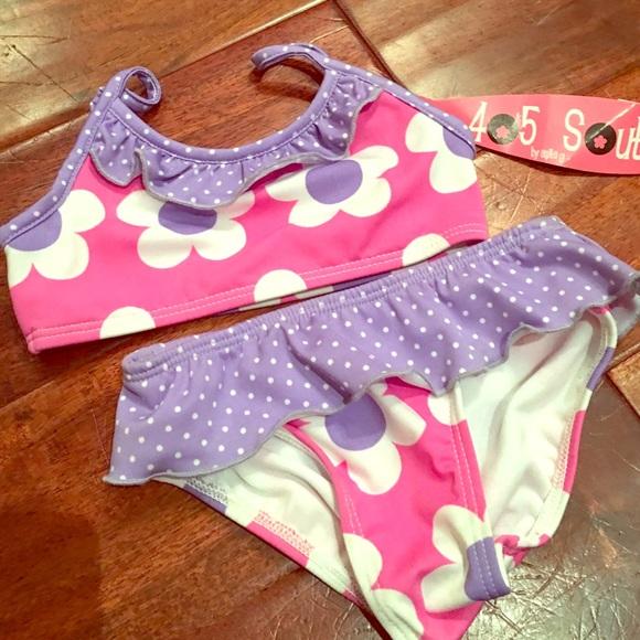 🍄LOWEST🍄 AnitaG Daisy Pink&Purple Bikini 3T