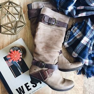 PIKOLINOS Shoes - Slouchy leather buckle boots