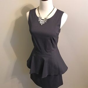 NEW WITH TAGS JULIE BROWN PEPLUM BLUE DRESS