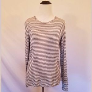 Zara Trafaluc Long Sleeve Striped Tee size Medium