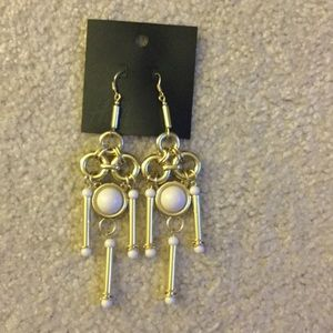 H&M Jewelry - H&M gold & white earrings