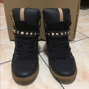 Zara wedges sneakers (black sz 6.5)