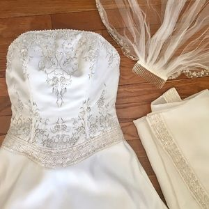 Mori Lee Dresses & Skirts - Wedding gown, veil, and shawl by Morilee