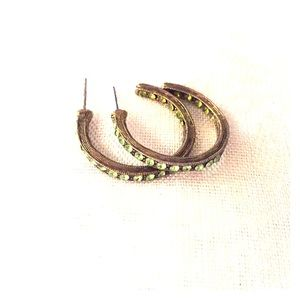 Vintage earrings w/Peridot stones