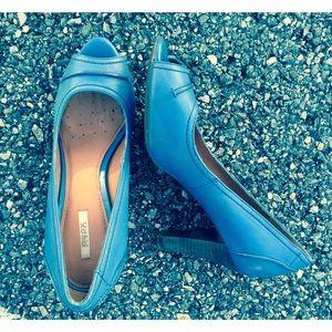 Geox Shoes - GEOX Respira Aqua peeptoe pump. Sz8.5/38.5 NWOT!