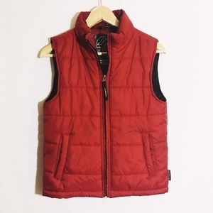 Jackets & Blazers - Vintage crimson red puffy vest