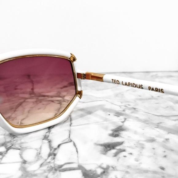 Ted Lapidus Accessories - Vintage ted lapidus geometric sunglasses