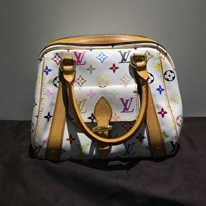 Louis Vuitton Handbags - AUTHENTIC white Louis Vuitton speedy bag