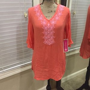 Lilly Pulitzer for Target Tops - Vibrant Lilly Pulitzer NWT peach BOHO tunic