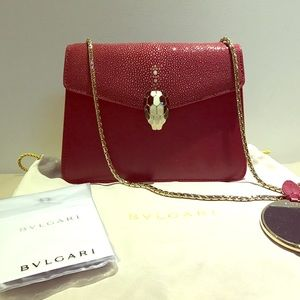 Bulgari Handbags - AUTHENTIC brand new deep RED serpenti bag NWOT
