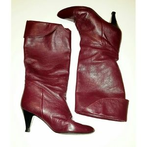 Bass Shoes - Vintage BASS Burgundy/ maroon,  all leather boots