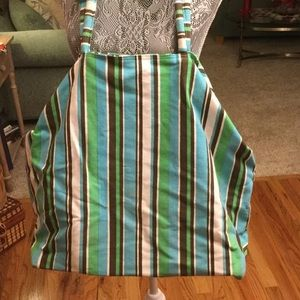 Unknown Bags - THIS LARGE STRIPED COTTON BEACH BAG