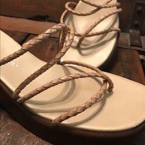 Hillard & Hanson Shoes - Leather platform sandals