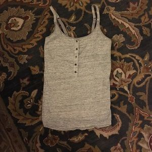 Maternity/nursing tank top in heather grey