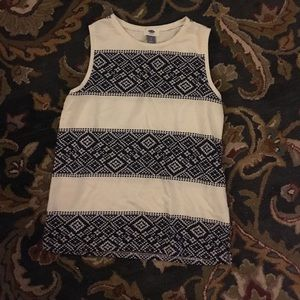 Old Navy sleeveless top with woven design