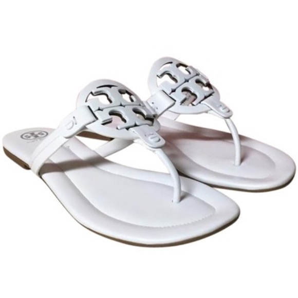 fc0e0f30a NEW Tory Burch White Miller 2 Sandals
