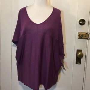 Coldwater Creek Sweaters - Coldwater creek purple knit relaxed pull over NWT