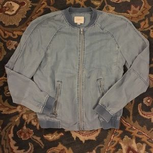 Soft denim bomber jacket
