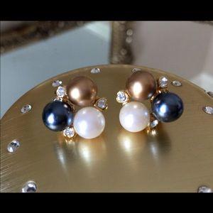 Jewelry - ⚜️VTG⚜️ 🔘Interchangeable Faux Pearl Earrings