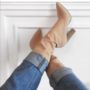 Nude Sock Booties