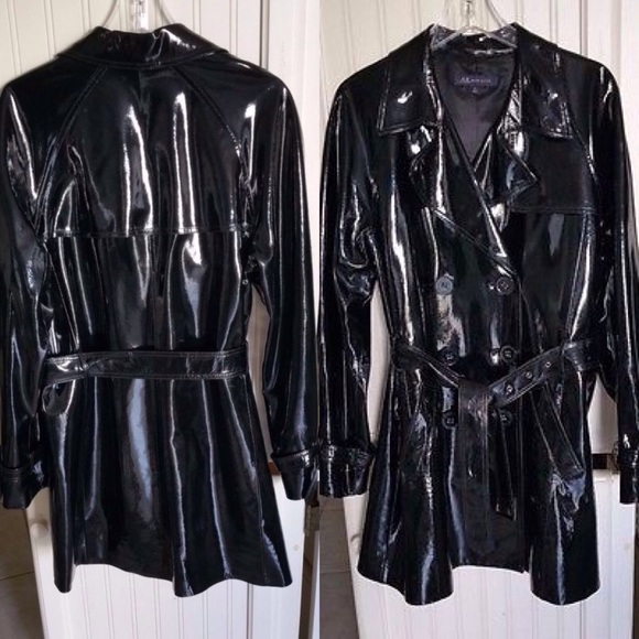 576ff36703ad Ann Klein Jackets   Blazers - Genuine Patent Leather Trench Coat   Burberry  Look